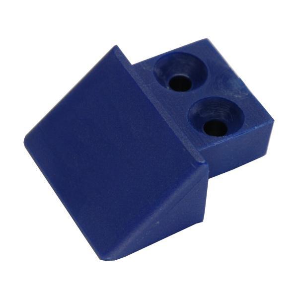 Endstück für Stäbchenzurrschiene schmal, Farbe blau, Kunststoff