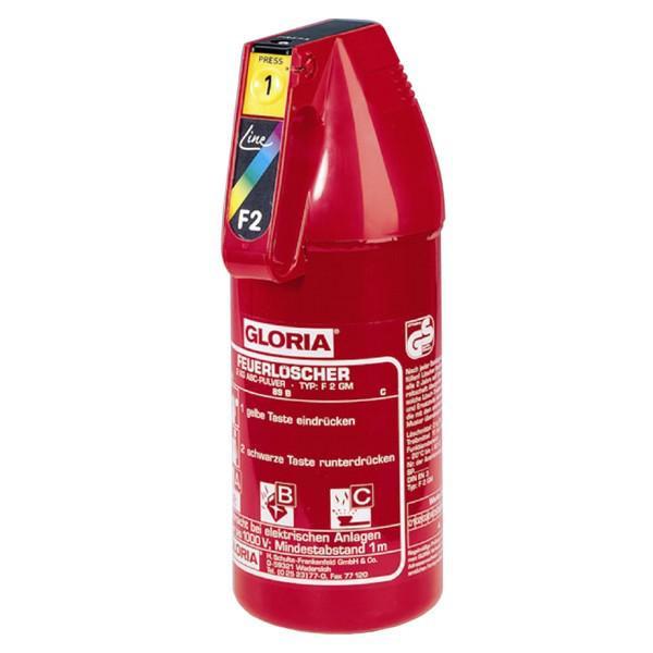 Gloria-Autopulverfeuerlöscher 2kg - F2G