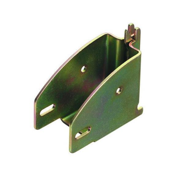 Balkenschuh / Rahmenschuh, für Kombi-Ankerschiene, Stahl verzinkt, gelb passiviert