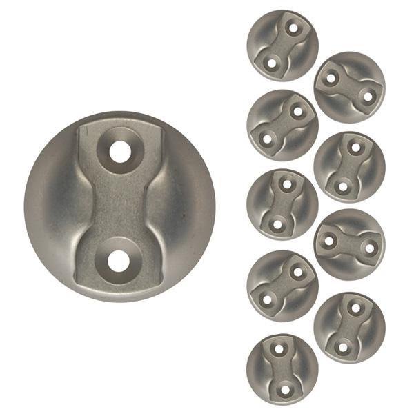 Zurrplatte, Aluminium, rund, 1 Haltepunkt, 10er Set