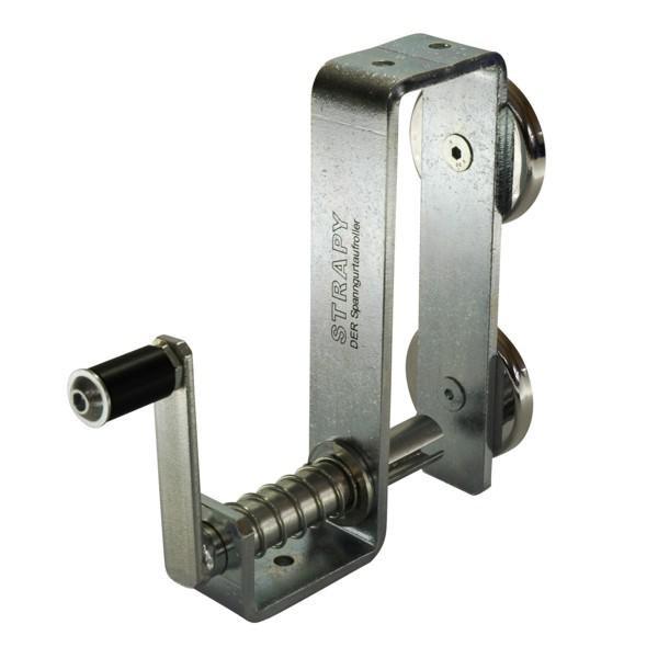 STRAPY® - DER Spanngurtaufroller - mit Magneten und Edelstahl-Halteplatte