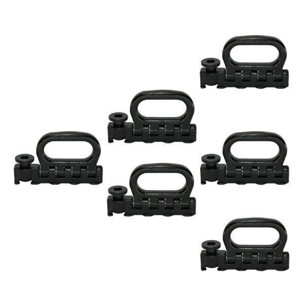 Quattro-Stud-Fitting, klappbar, LC 2500 daN, schwarz, 6 Stück