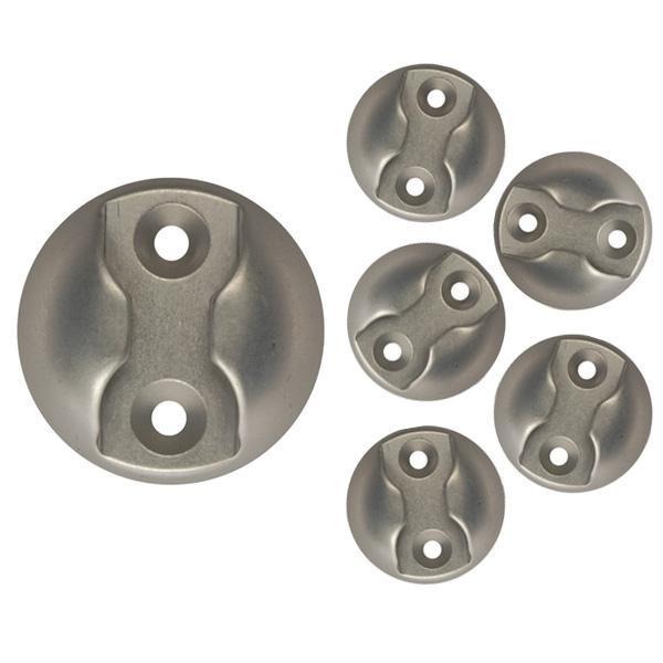 Zurrplatte, Aluminium, rund, 1 Haltepunkt, 6er Set