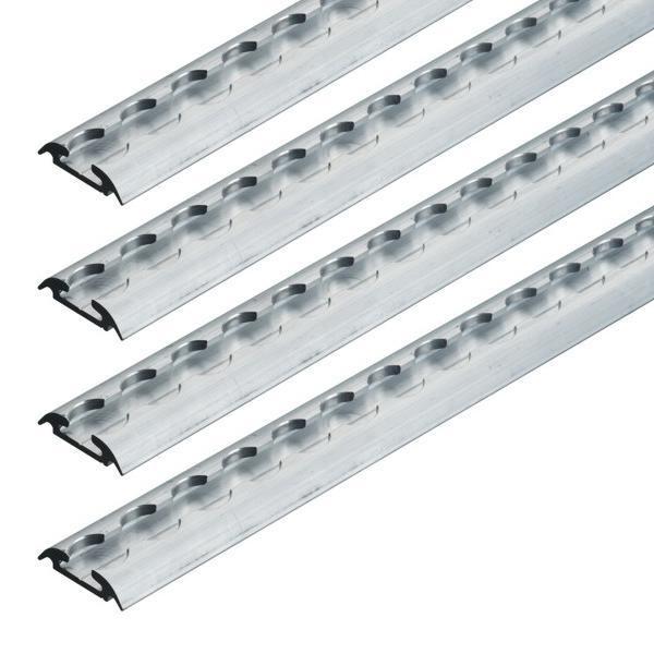 Airlineschiene, Halbrundprofil Premium light, Länge 1 m, 4er Set