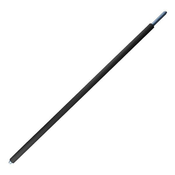 Rundsperrbalken, Alu, verstellbar 2000-2400 mm, Kombizapfen 19/24 mm u. Schlitz 9 mm, Gummi, DEKRA