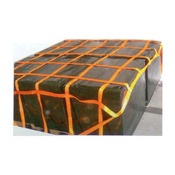 LKW 6-fach Palettennetz mit Gurtband, 2,70 m x 2,70 m, Maschenweite 50 cm x 50 cm