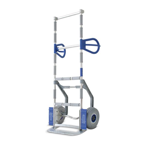 EXPRESSO Vielzweckkarre aus Aluminium, Stapelkarre für weiße Ware, lange Ausführung