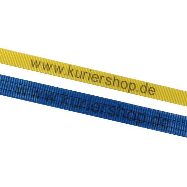 Umreifungsgurt, 50 mm, 6 m, 2000 daN, Ratsche, mit individuellen Aufdruck - 25 Stück