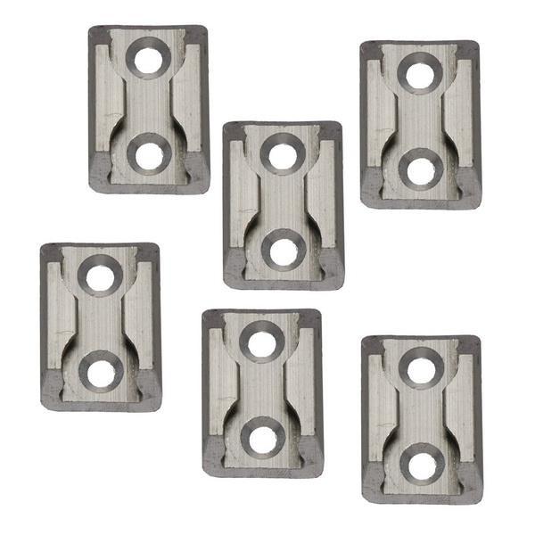 Zurrplatte, Aluminium, eckig, 1 Haltepunkt, 6er Set