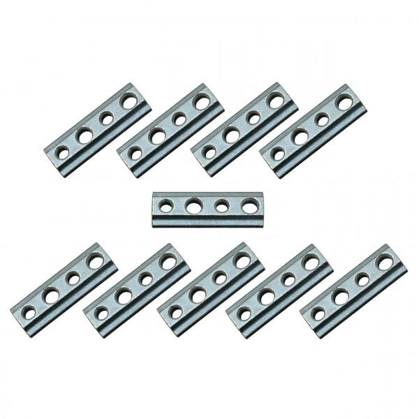 Nutenstein mit M8 Gewinde für Airlineschiene, Stahl verzinkt, 10er Set