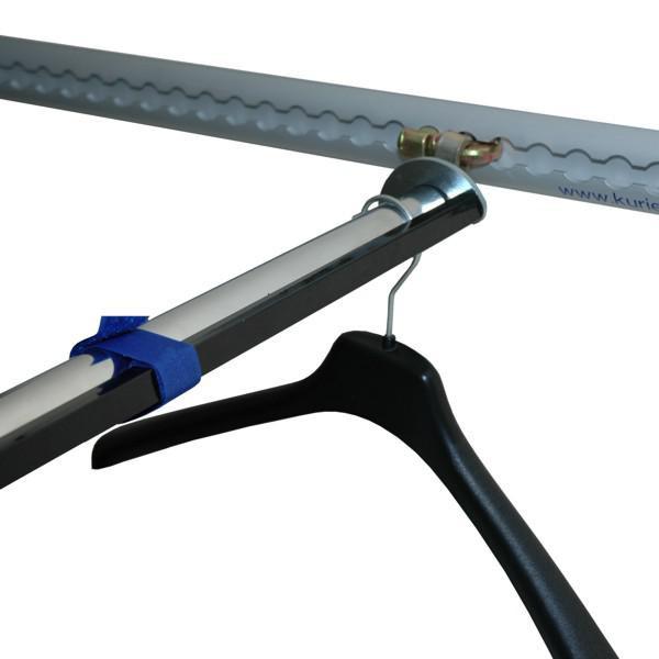 Kleiderstange für Airlineschienen, Länge ab 1300 mm, auf Maß gefertigt