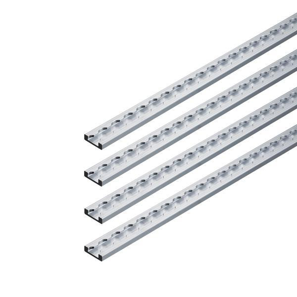 Airlineschiene, Vierkantprofil Premium Light, Länge 1 m, 4er Set