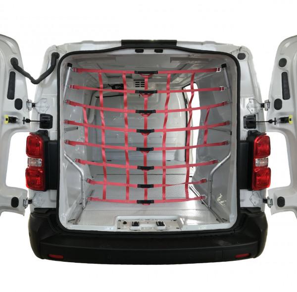 Ladungssicherungsnetz m. Aluminium-Gestänge f. Transporter MB Vito / VW T5/T6