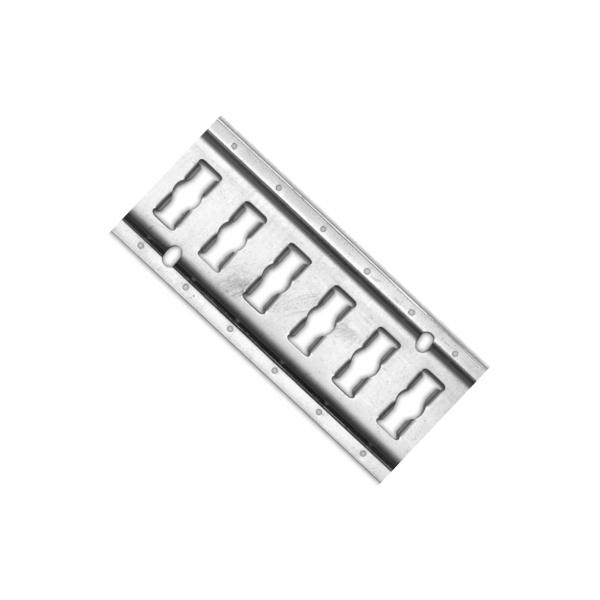 Kombi-Zurrschiene, Stahl verzinkt, 30 cm, 6 Zurrpunkte