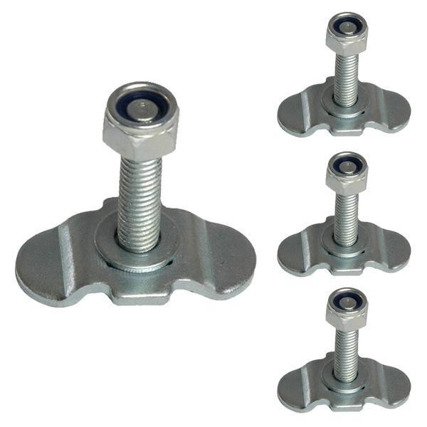 Schraubfitting für Airlineschienen, 0-17 mm, M8, 4er Set