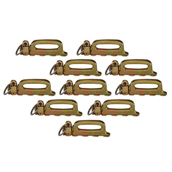 Quattro-Stud-Fitting, Vierfachendbeschlag mit Ring, Bruchlast 5000 daN, 10er Set