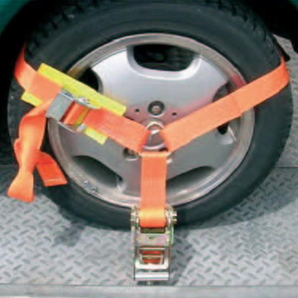 Auto-Transportgurt, Gurtbreite 50 mm, für Reifen, 4er Set