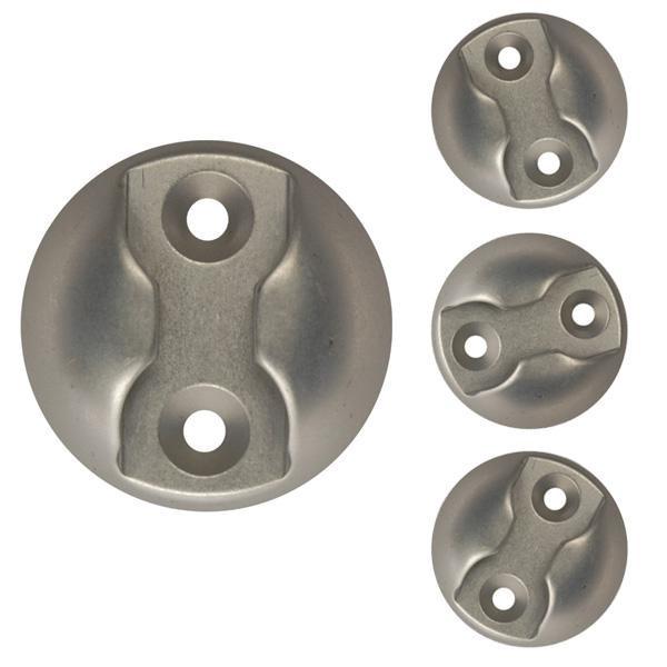 Zurrplatte, Aluminium, rund, 1 Haltepunkt, 4er Set