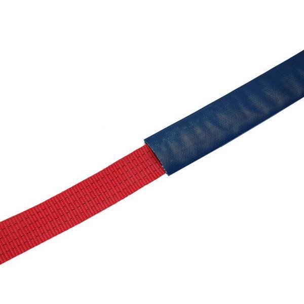 Kantenschutzschlauch, für Gurtbreite bis 35 mm, blau - Meterware