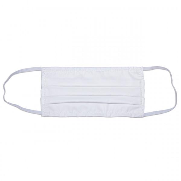 Behelfs-Mund-Nasen-Maske, Stoff, einlagig, Nasenbügel, Gummizug, Größe L