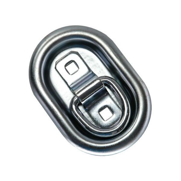 Zurrpunkt / Zurröse oval, doppelseitig versenkend, Zugkraft 350 daN - 20er Set
