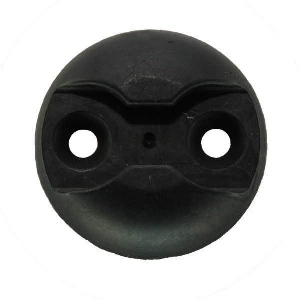 Zurrplatte, Aluminium, rund, 1 Haltepunkt, schwarz eloxiert