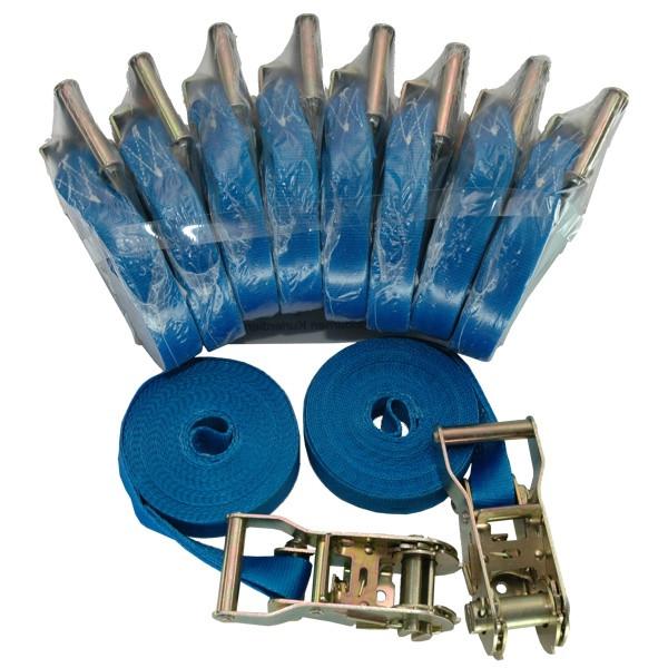 Umreifungsgurt, LC 1000 daN, 6 m, 25 mm, mit Ratsche - 10 Stück