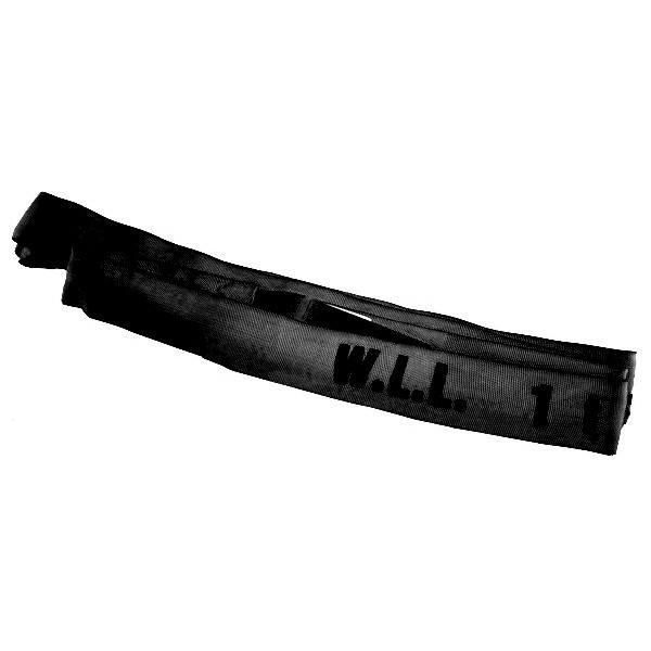 Rundschlinge, Nutzlänge 1 m, schwarz, Tragfähigkeit 2000 kg