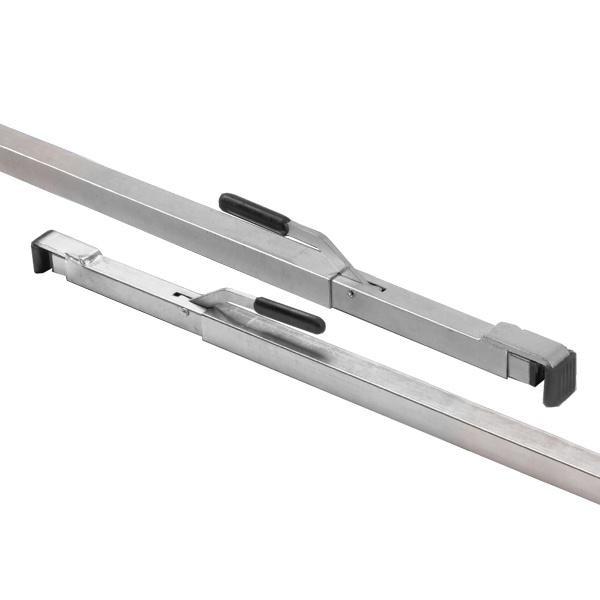 2 x Zwischenwandverschluss, 4-kant, 1,92 m - 2,72 m, Stahl