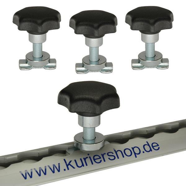 Schraubfitting M10 mit Sterngriff für Airlineschienen, 7-14 mm, 4er Set