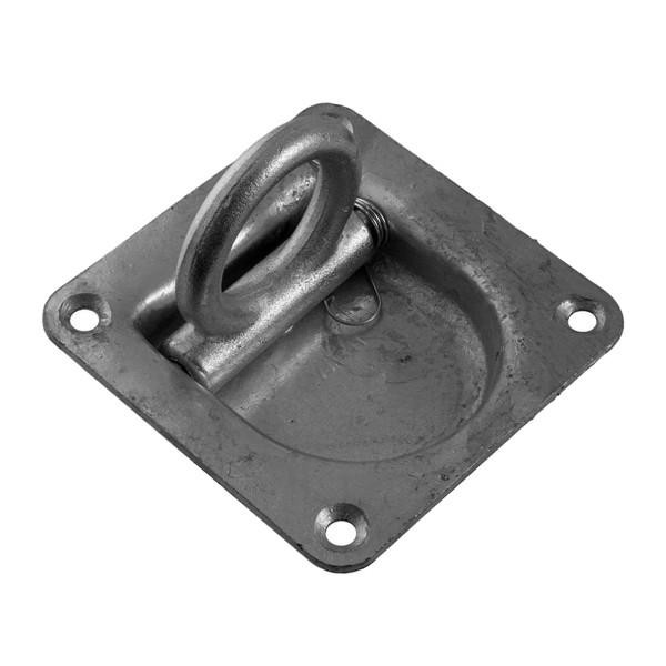 6 x Zurrpunkt / Zurrösen inkl. Gegenplatte, Zugkraft 1000 daN, Stahl, verzinkt
