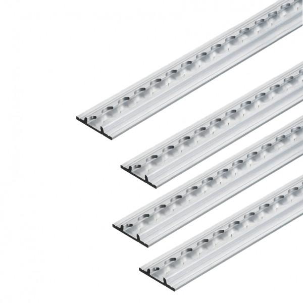 Airlineschiene, Flachprofil Premium Light, Länge 1 m - im 4er Set