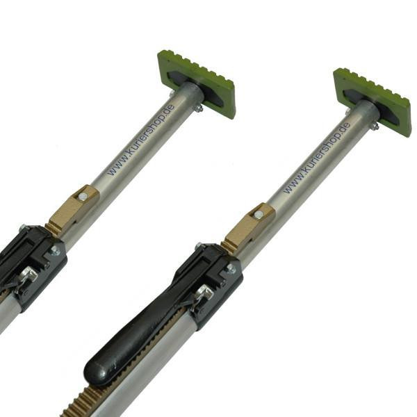 Klemmbalken, Aluminium, 42 mm, verstellbar 1,80 - 2,17 m, 2er Set