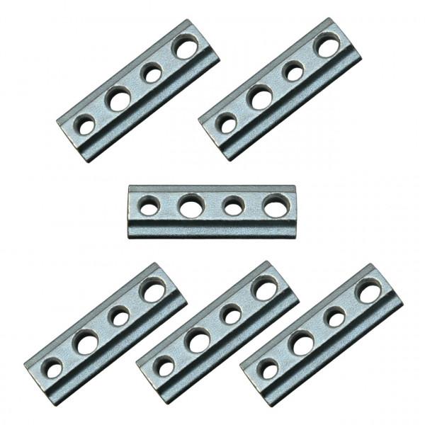 Nutenstein mit M8 Gewinde für Airlineschiene, Stahl verzinkt, 6er Set