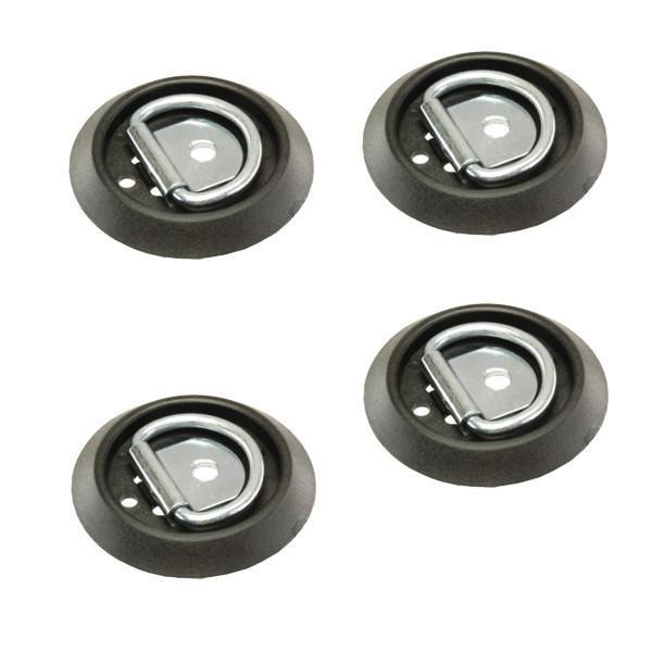 Zurrpunkt / Zurröse, einfache Ausführung, Stahl/Kunststoff, 250 daN, 4er Set