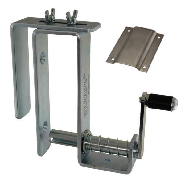 STRAPY® - DER Spanngurtaufroller - mit Edelstahl-Halteplatte und Bordwandhalter