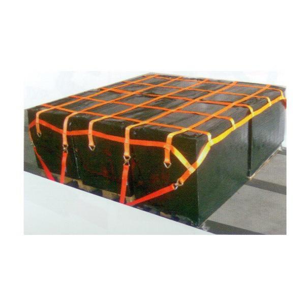 LKW 6-fach Palettennetz mit D-Ringe, 2,70 m x 2,70 m, Maschenweite 25 cm x 25 cm