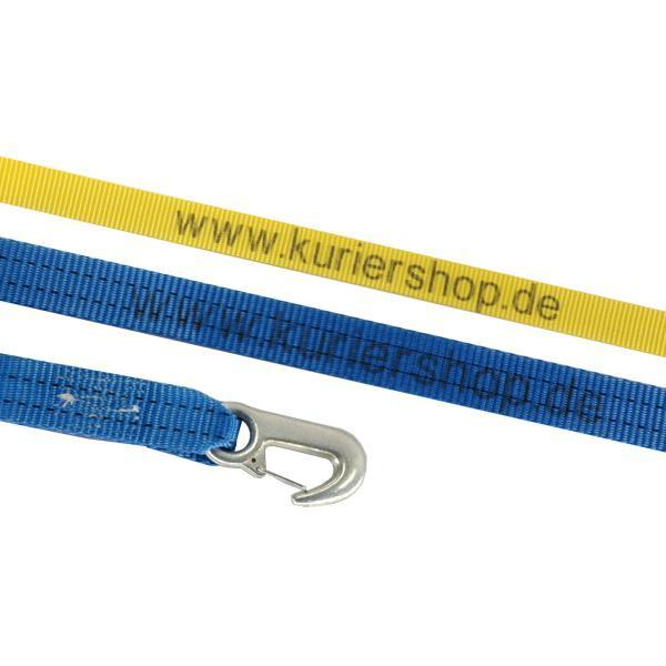 Spanngurt / Zurrgurt 35 mm, 6 m, 2-teilig, Karabinerhaken mit individuellen Aufdruck - 35 Stück