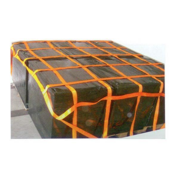 LKW 6-fach Palettennetz mit Gurtband, 2,70 m x 2,70 m, Maschenweite 25 cm x 25 cm