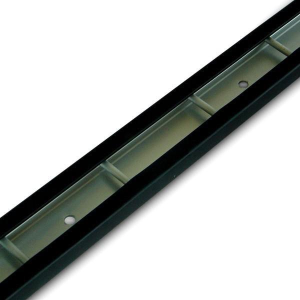 Stäbchenzurrschiene, Aluminium mit Schutzprofil, Länge 1 m