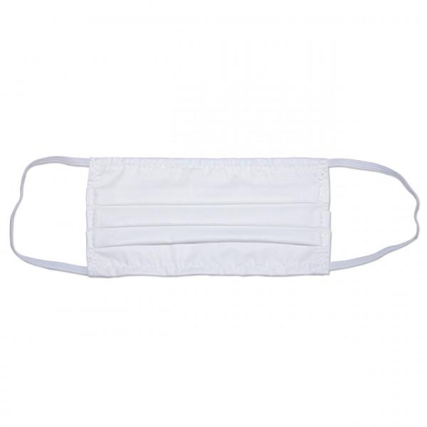 Behelfs-Mund-Nasen-Maske, Stoff, einlagig, Nasenbügel, Gummizug, Größe S