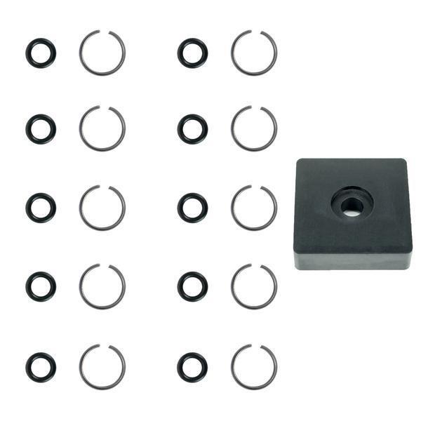 Schlagschrauber 3/8 Zoll O-Ring Reparaturset - 10 Sets mit Montage Werkzeug