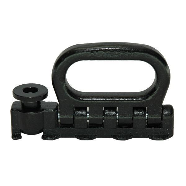 Quattro-Stud-Fitting, klappbar, LC 2500 daN, schwarz