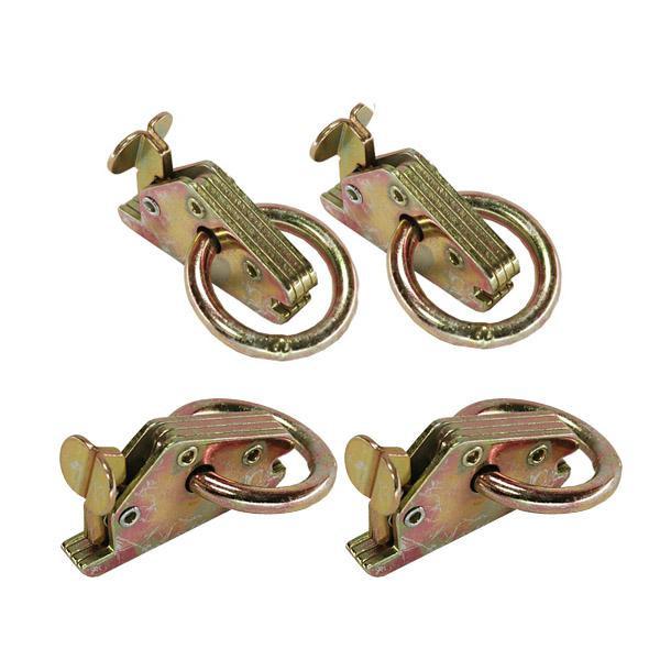 Endbeschlag für Kombi-Ankerschiene mit Ring LC 1000 daN, 4er Set