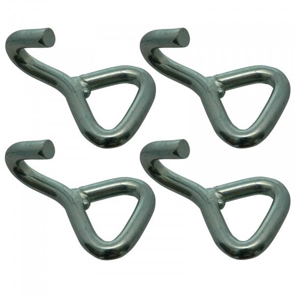 Spitzhaken für 35 mm Gurtband, LC 1500 daN, Bruchkraft 3000 daN im 4er Set