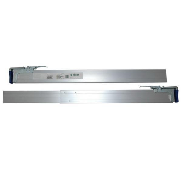 Zwischenwandverschluss / Spannbrett, Alu, 2,40 - 2,70 m, 2-teilig, DEKRA zertifiziert, einkürzbar