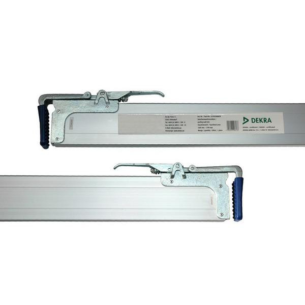 Zwischenwandverschluss / Spannbrett, Alu, 1,50 - 1,80 m, 2-teilig, DEKRA zertifiziert