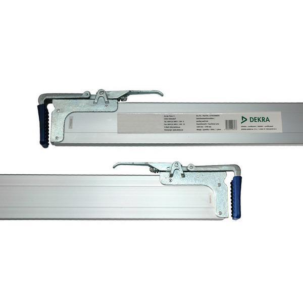 Zwischenwandverschluss / Spannbrett, einkürzbar, 2-teilig, Alu, DEKRA zertifiziert, 2 Stück