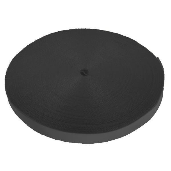 Einwegzurrband, 25 mm, Bruchlast 270 daN, 50 m, schwarz