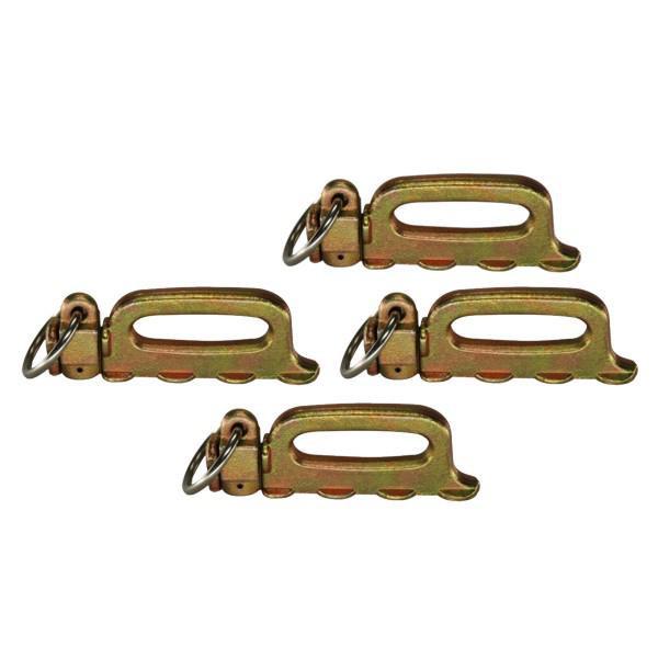 Quattro-Stud-Fitting, Vierfachendbeschlag mit Ring, Bruchlast 5000 daN, 4er Set